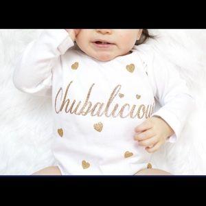 16fc171d3ec50 sugarplum lane · Chubalicious Baby Onesie NWT